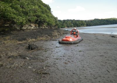 Hovercrafting Fowey Estuary
